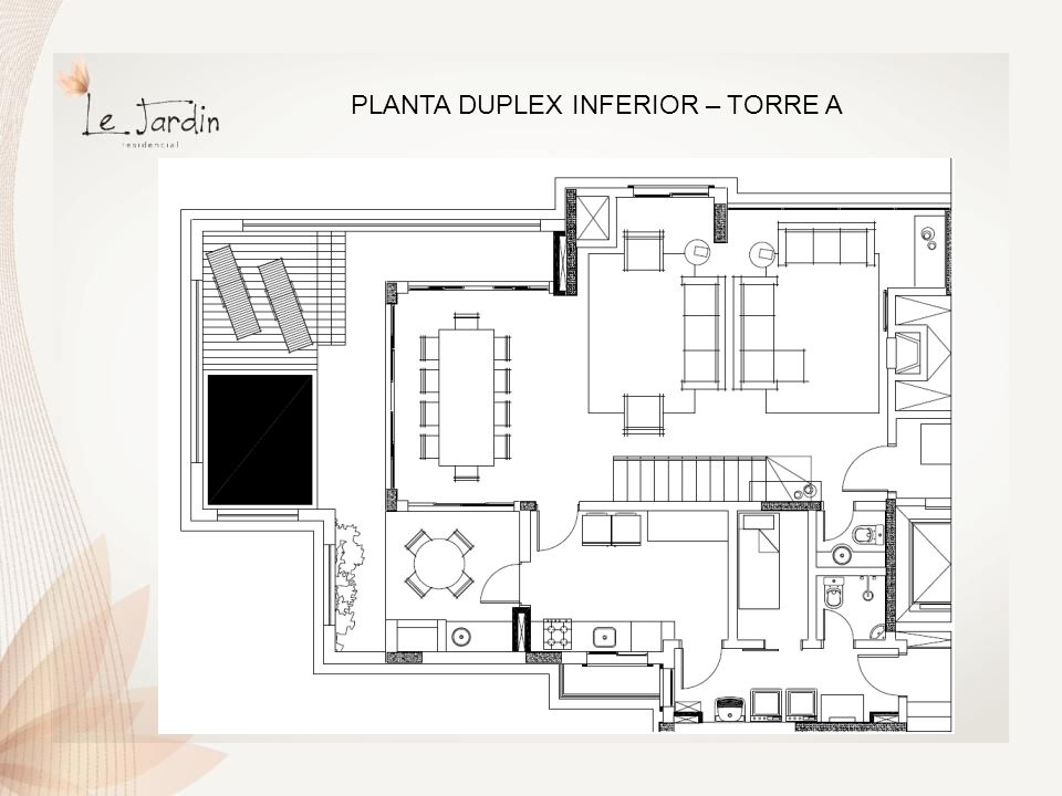 PLANTA DUPLEX SUPERIOR – TORRE A