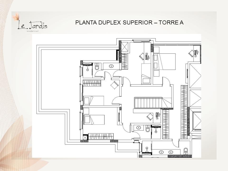 PLANTA DUPLEX INFERIOR – TORRE B e C