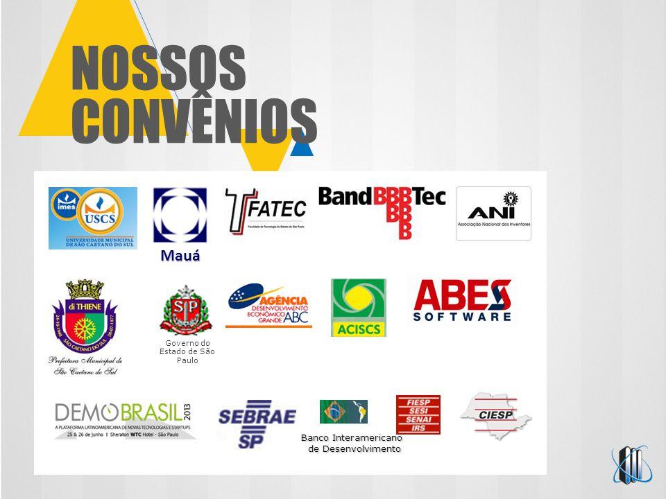NOSSOS CONVÊNIOS Governo do Estado de São Paulo Banco Interamericano de Desenvolvimento Mauá