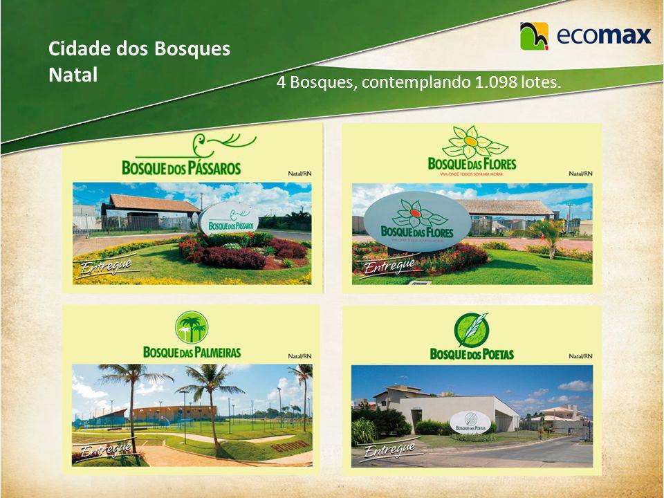 Cidade dos Bosques Natal 4 Bosques, contemplando 1.098 lotes.