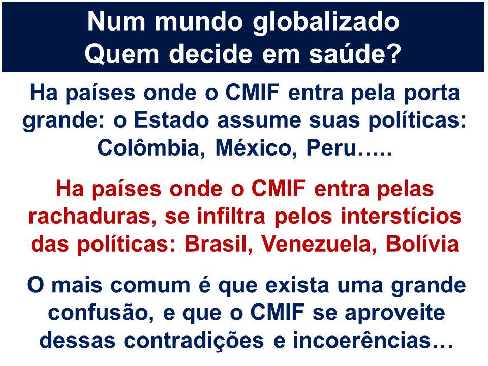 O mais comum é que exista uma grande confusão, e que o CMIF se aproveite dessas contradições e incoerências… Num mundo globalizado Quem decide em saúd