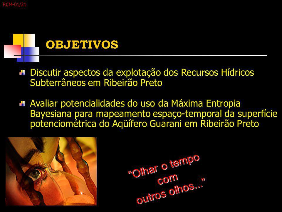 """"""" O l h a r o t e m p o c o m o u t r o s o l h o s... """" OBJETIVOS Discutir aspectos da explotação dos Recursos Hídricos Subterrâneos em Ribeirão Pret"""