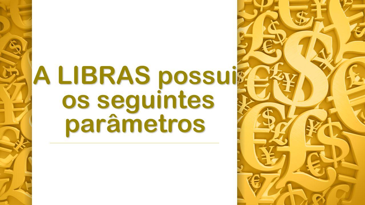 A LIBRAS possui os seguintes parâmetros