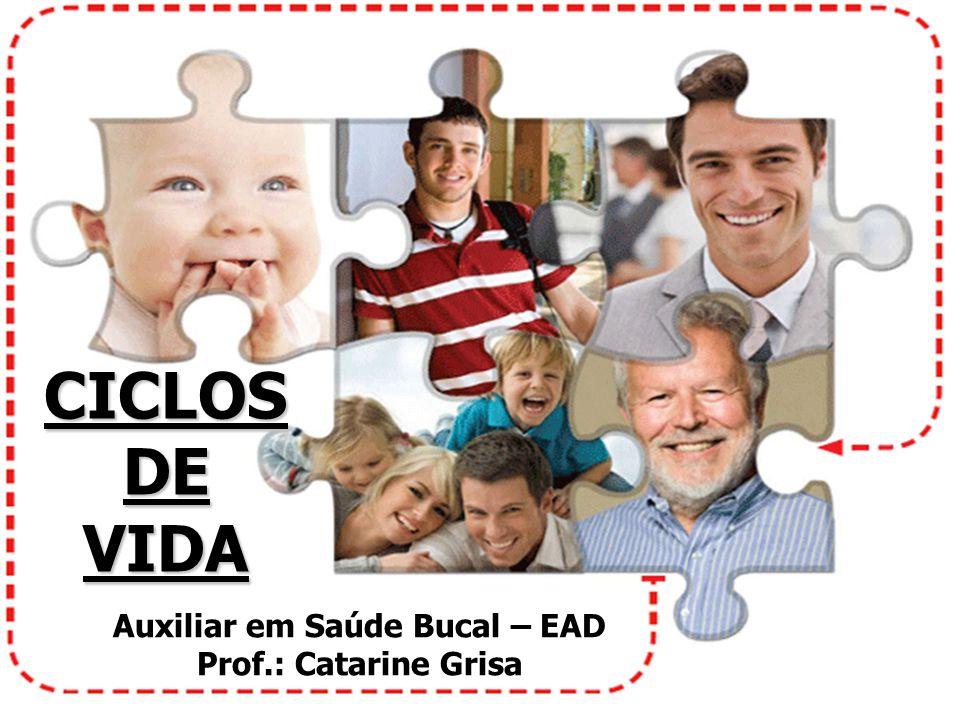 CICLOS DE VIDA Auxiliar em Saúde Bucal – EAD Prof.: Catarine Grisa