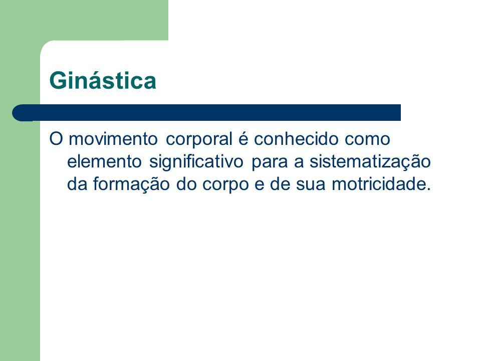 Ginástica O movimento corporal é conhecido como elemento significativo para a sistematização da formação do corpo e de sua motricidade.