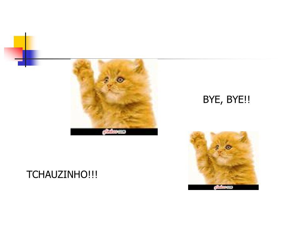 BYE, BYE!! TCHAUZINHO!!!