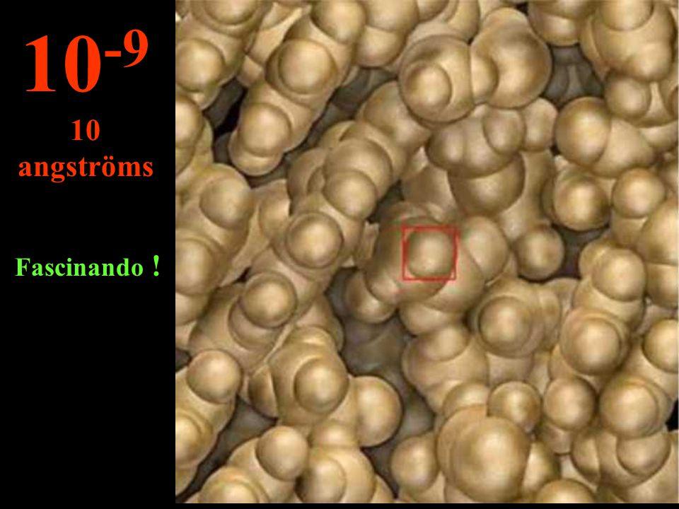 Neste micro universo pode-se ver as cadeias de ADN... 10 -8 100 angströms