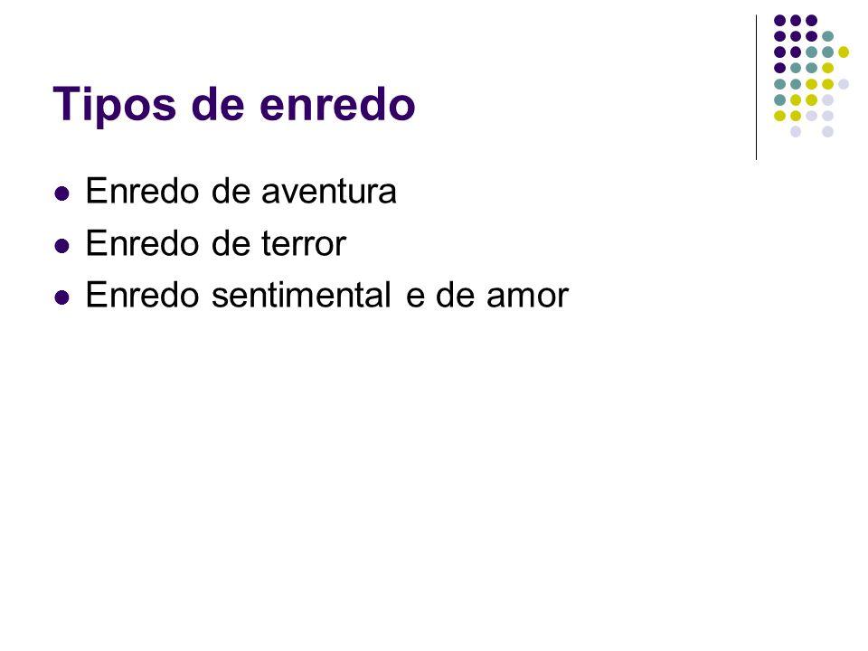 Tipos de enredo Enredo de aventura Enredo de terror Enredo sentimental e de amor