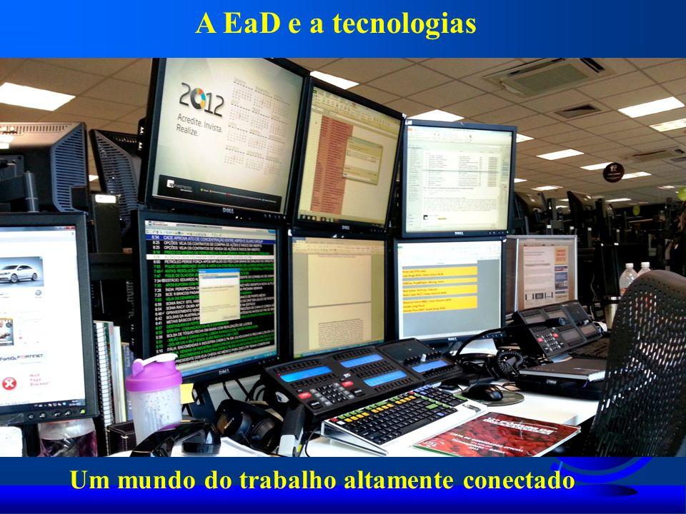 Um mundo do trabalho altamente conectado A EaD e a tecnologias