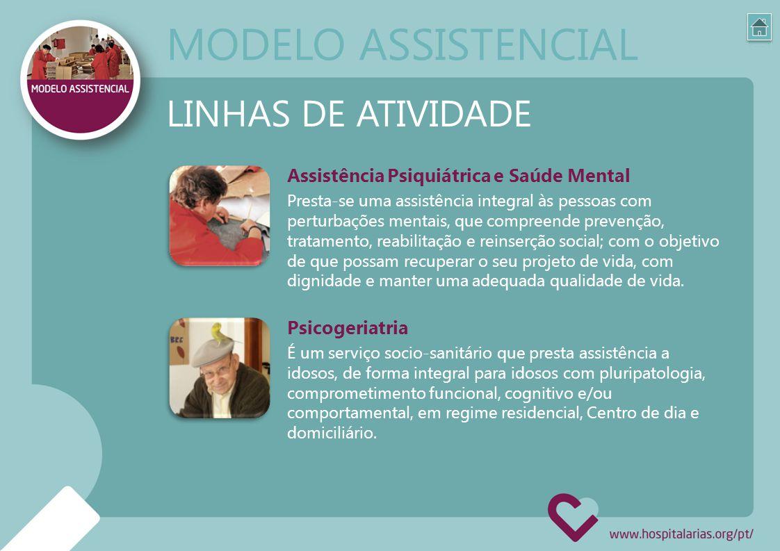 Assistência Psiquiátrica e Saúde Mental Presta-se uma assistência integral às pessoas com perturbações mentais, que compreende prevenção, tratamento,