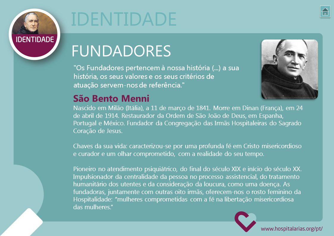 FUNDADORES María Josefa Recio (Granada, 1846-1883): Exemplo de caridade heroica, ao dar a sua vida em serviço das doentes.
