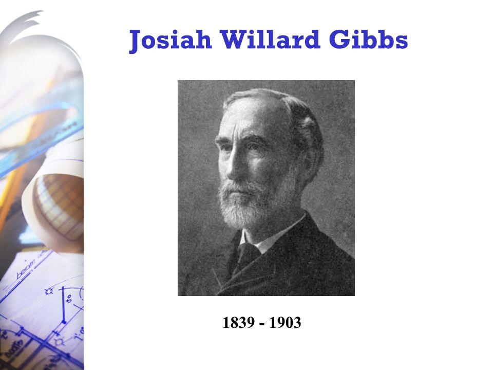 Josiah Willard Gibbs 1839 - 1903