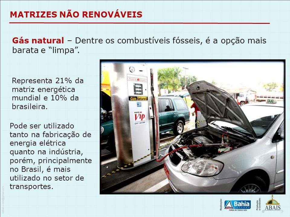 """Gás natural – Dentre os combustíveis fósseis, é a opção mais barata e """"limpa"""". Representa 21% da matriz energética mundial e 10% da brasileira. Pode s"""