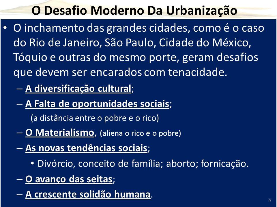 O Desafio Moderno Da Urbanização O inchamento das grandes cidades, como é o caso do Rio de Janeiro, São Paulo, Cidade do México, Tóquio e outras do me