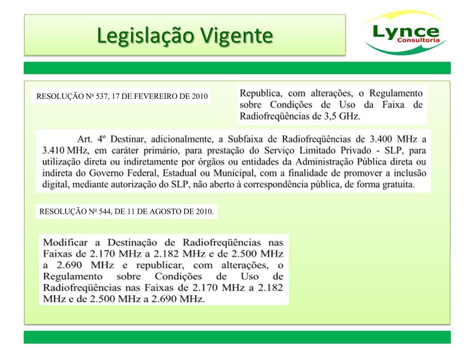Legislação Vigente