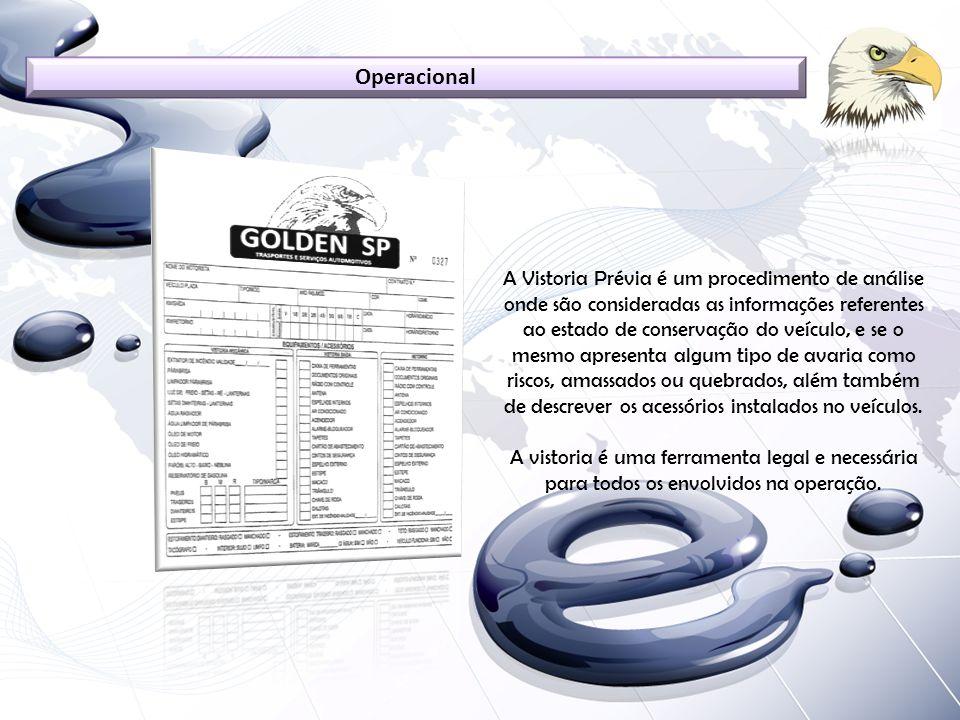 A Vistoria Prévia é um procedimento de análise onde são consideradas as informações referentes ao estado de conservação do veículo, e se o mesmo apres