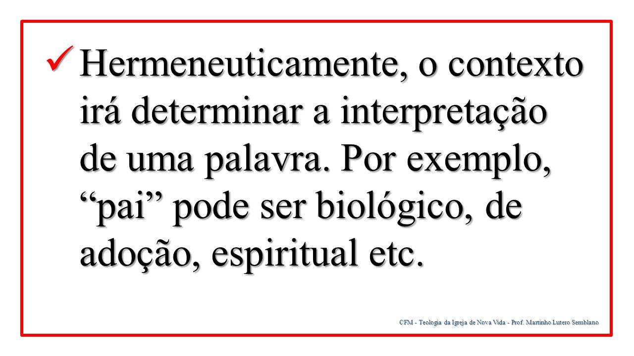 CFM - Teologia da Igreja de Nova Vida - Prof.