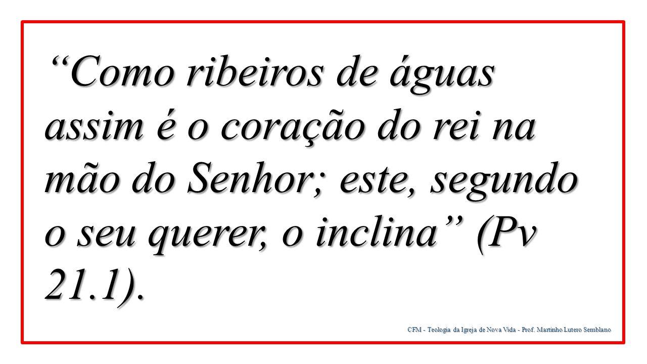 CFM - Teologia da Igreja de Nova Vida - Prof. Martinho Lutero Semblano 3ª Sobre os seres angelicais