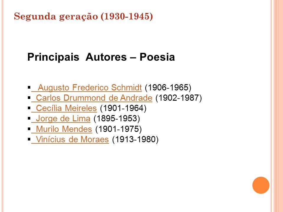  Augusto Frederico Schmidt (1906-1965) Augusto Frederico Schmidt  Carlos Drummond de Andrade (1902-1987) Carlos Drummond de Andrade  Cecília Meirel