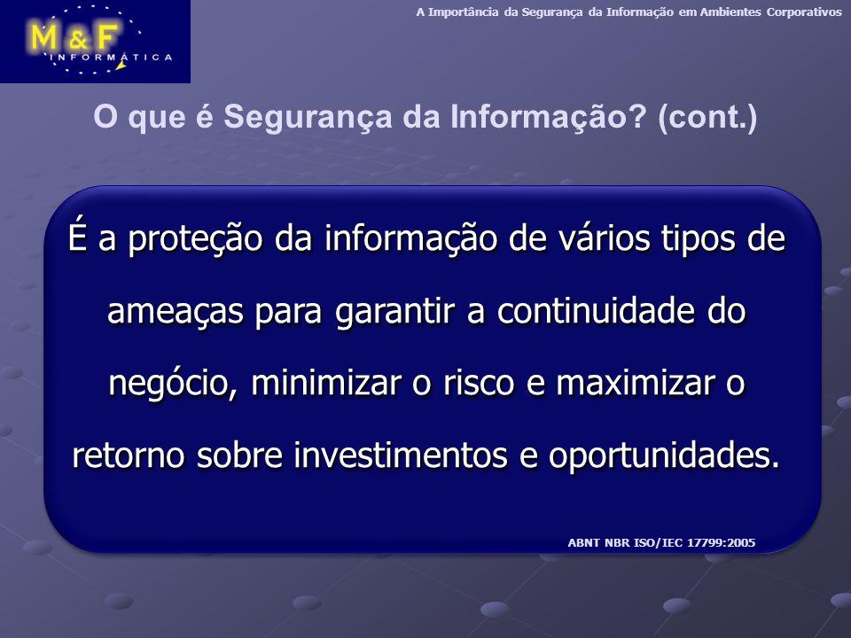 O que é Segurança da Informação.