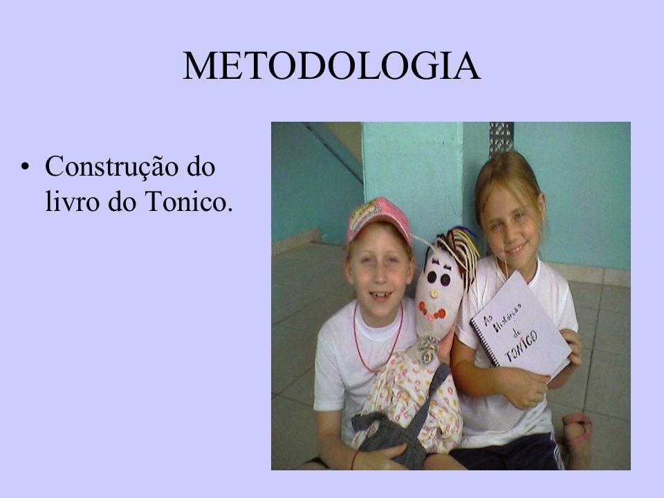 METODOLOGIA Construção do livro do Tonico.