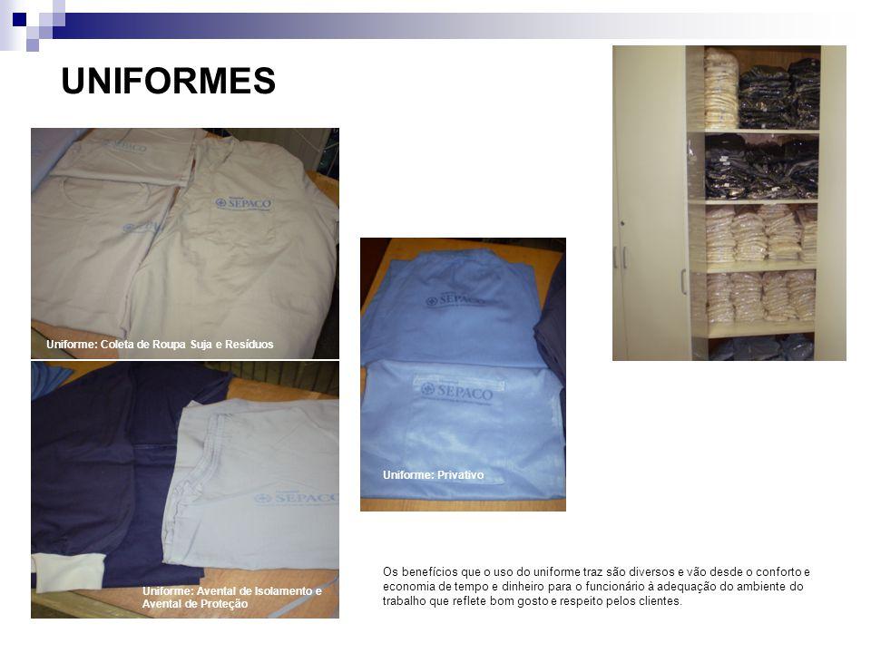 UNIFORMES Os benefícios que o uso do uniforme traz são diversos e vão desde o conforto e economia de tempo e dinheiro para o funcionário à adequação d