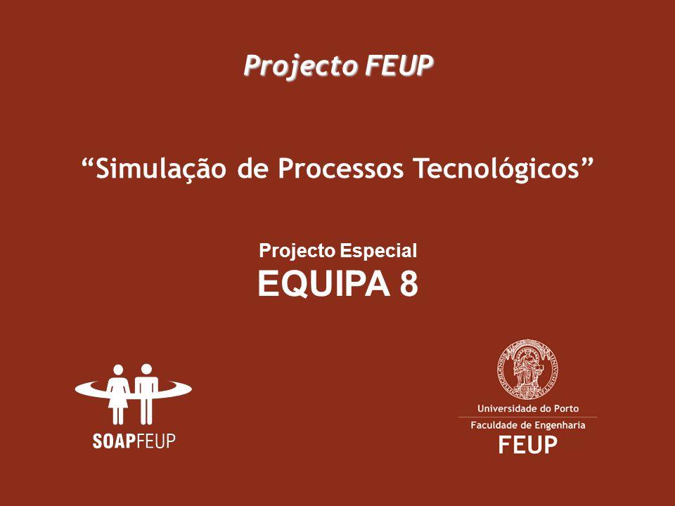 Projecto FEUP Projecto Especial EQUIPA 8 Simulação de Processos Tecnológicos