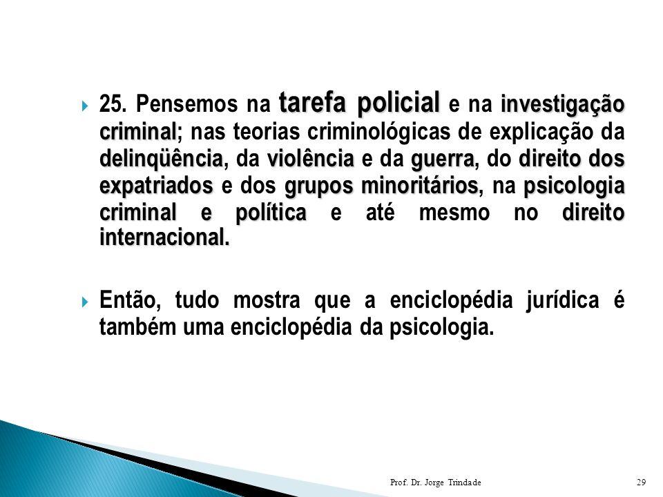 tarefa policial investigação criminal delinqüênciaviolênciaguerradireito dos expatriadosgrupos minoritáriospsicologia criminal e políticadireito inter