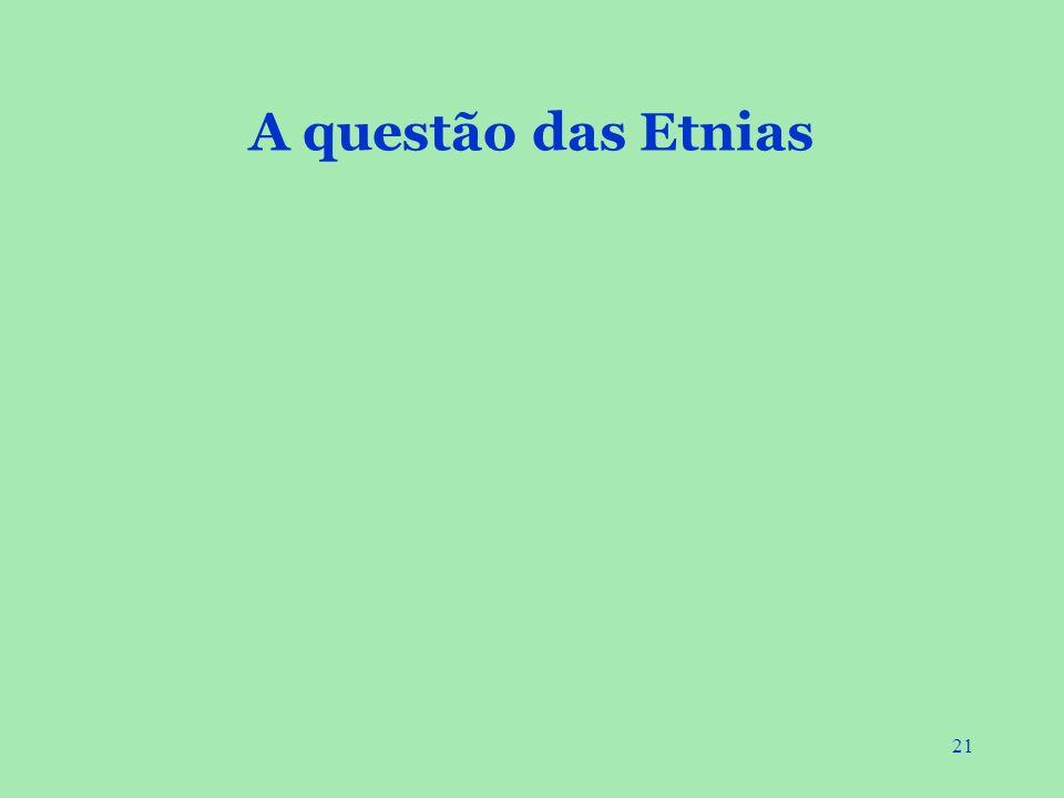 21 A questão das Etnias