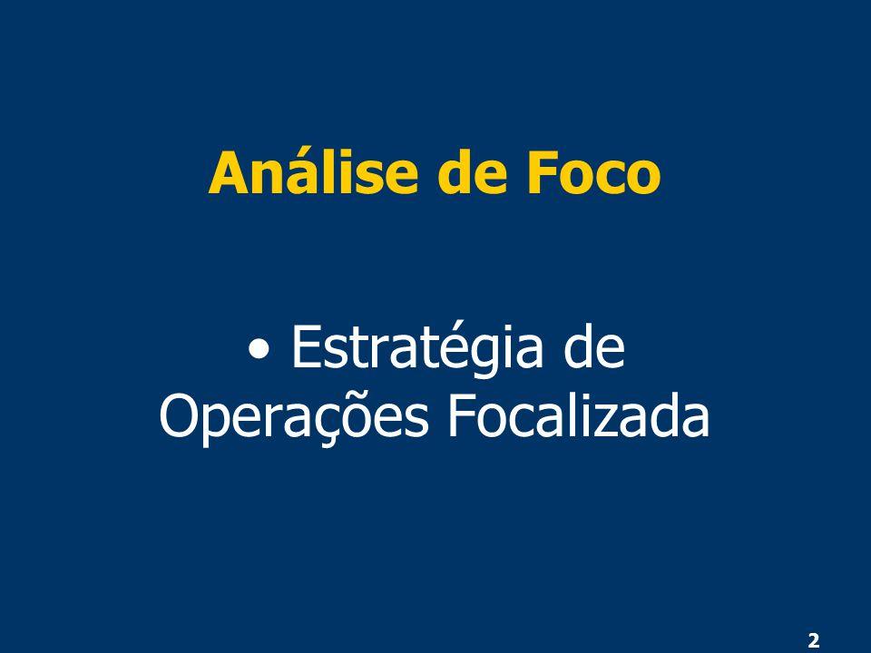 2 Análise de Foco Estratégia de Operações Focalizada