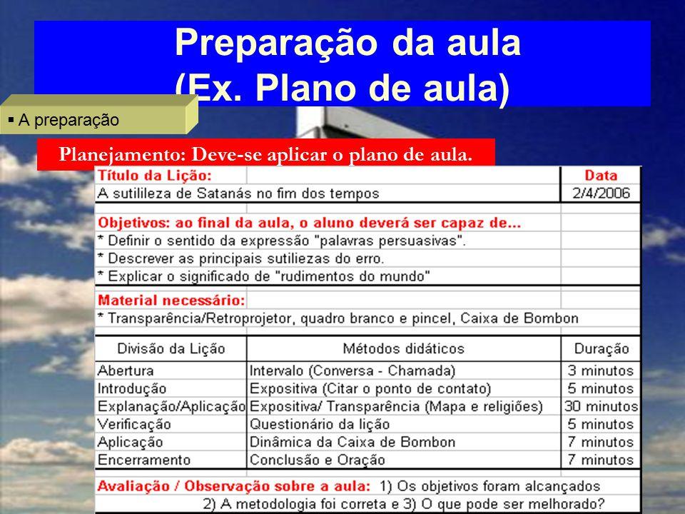 Preparação da aula (Ex.