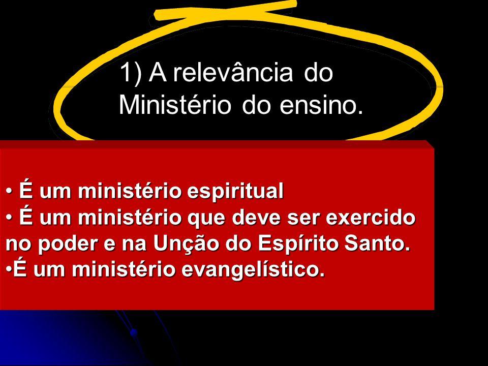 O Ministério do ensino A vocação da Igreja para exercer o ministério do ensino: oNa grande comissão Jesus nos ordenou: fazei discípulos....