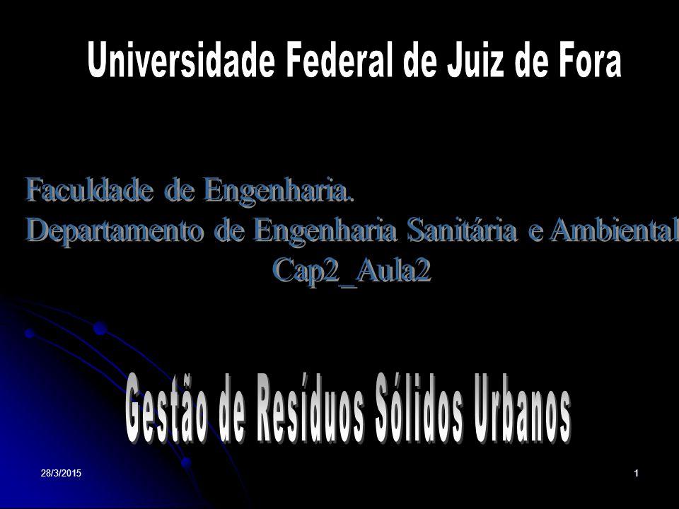 28/3/201522 ESTIMATIVA DA QUANTIDADE GERADA Objetivo: Prognosticar quantidades geradas no município.