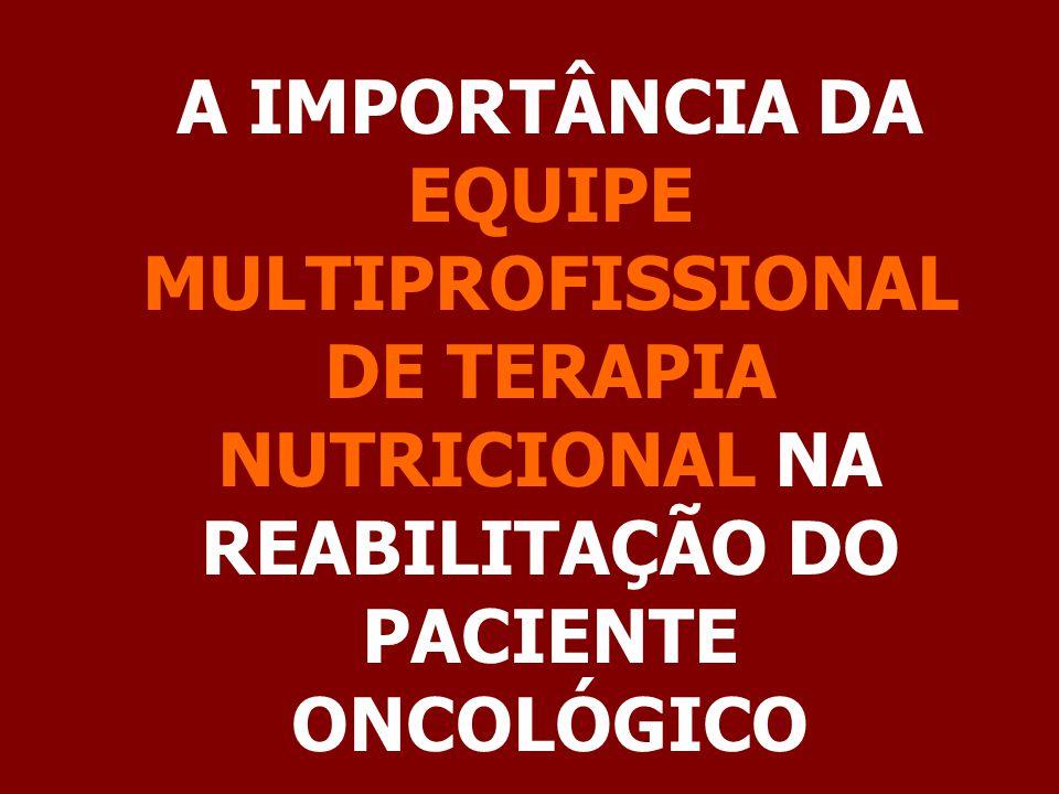 A IMPORTÂNCIA DA EQUIPE MULTIPROFISSIONAL DE TERAPIA NUTRICIONAL NA REABILITAÇÃO DO PACIENTE ONCOLÓGICO