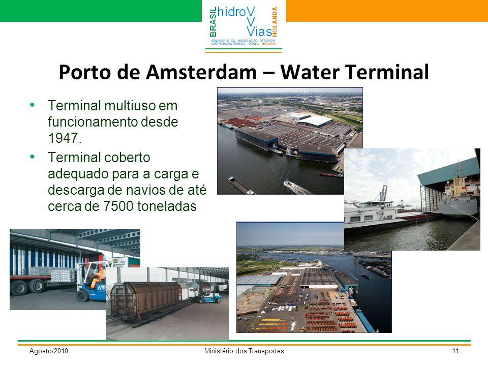 Porto de Amsterdam – Water Terminal Terminal multiuso em funcionamento desde 1947.