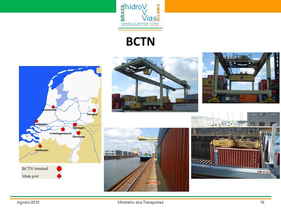 BCTN Agosto/2010Ministério dos Transportes16