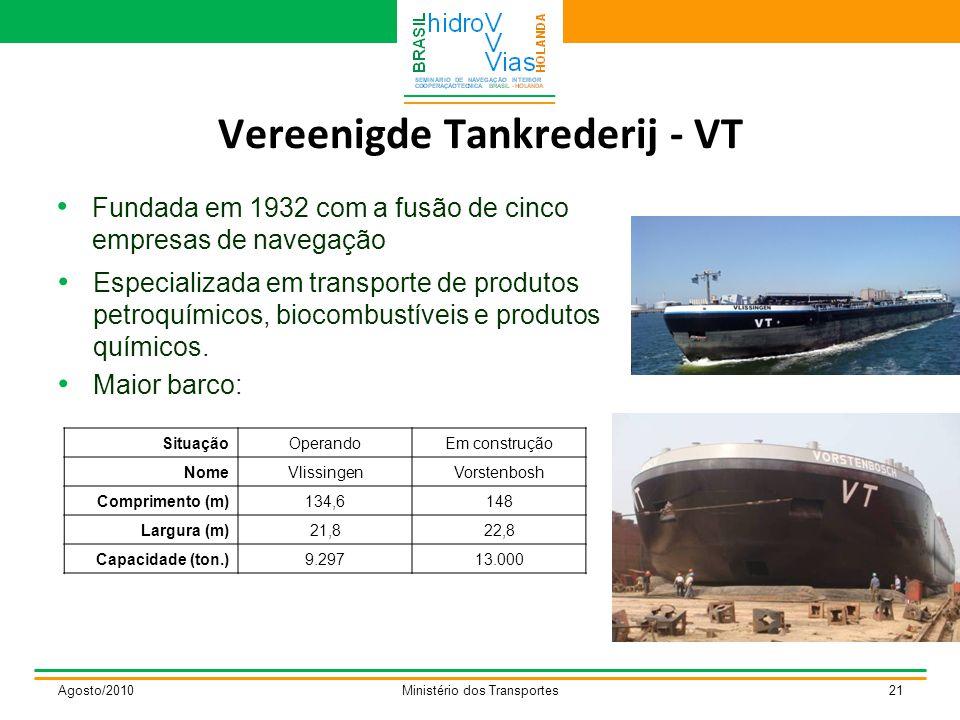 Vereenigde Tankrederij - VT Especializada em transporte de produtos petroquímicos, biocombustíveis e produtos químicos.