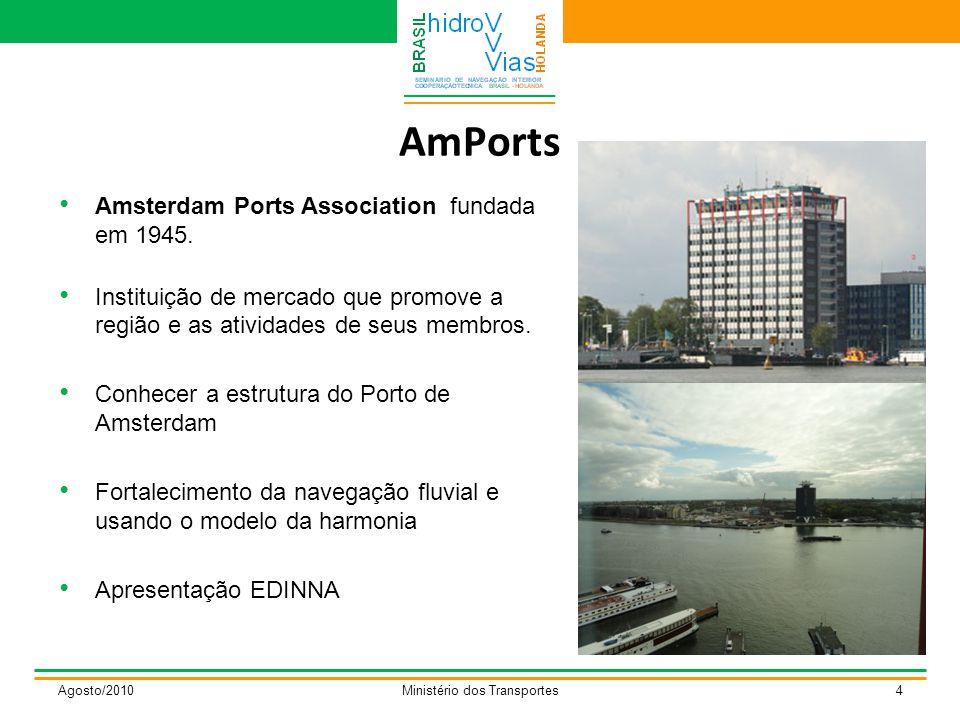 AmPorts Agosto/2010Ministério dos Transportes4 Amsterdam Ports Association fundada em 1945.