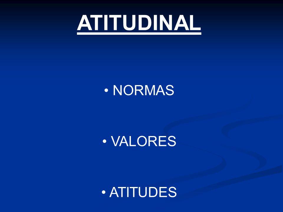 ATITUDINAL NORMAS VALORES ATITUDES