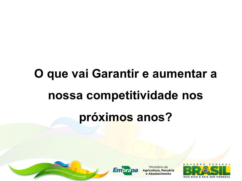 O que vai Garantir e aumentar a nossa competitividade nos próximos anos?