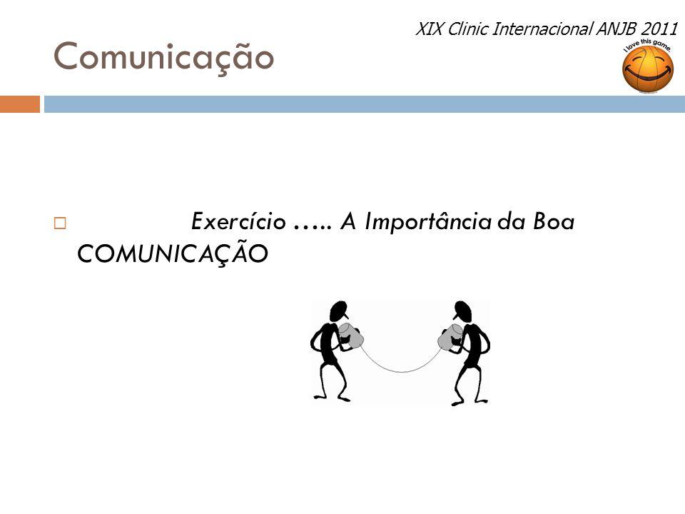 Comunicação  Exercício ….. A Importância da Boa COMUNICAÇÃO XIX Clinic Internacional ANJB 2011