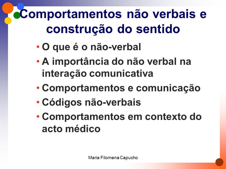 Comportamentos não verbais e construção do sentido O que é o não-verbal A importância do não verbal na interação comunicativa Comportamentos e comunic