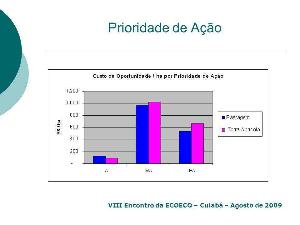 VIII Encontro da ECOECO – Cuiabá – Agosto de 2009 Prioridade de Ação