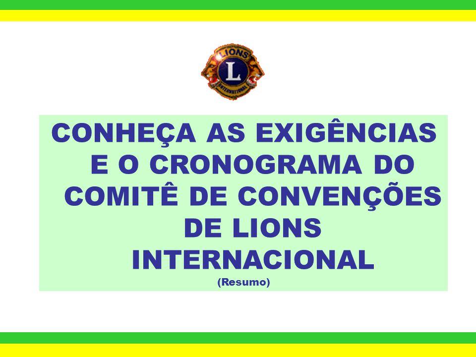 É com senso de responsabilidade e compromisso com o Leonismo e com a Cidade do Rio de Janeiro, que o LC Mater do Brasil investiu-se na missão de trazer a Convenção de Lions Internacional de 2011 para o Brasil.