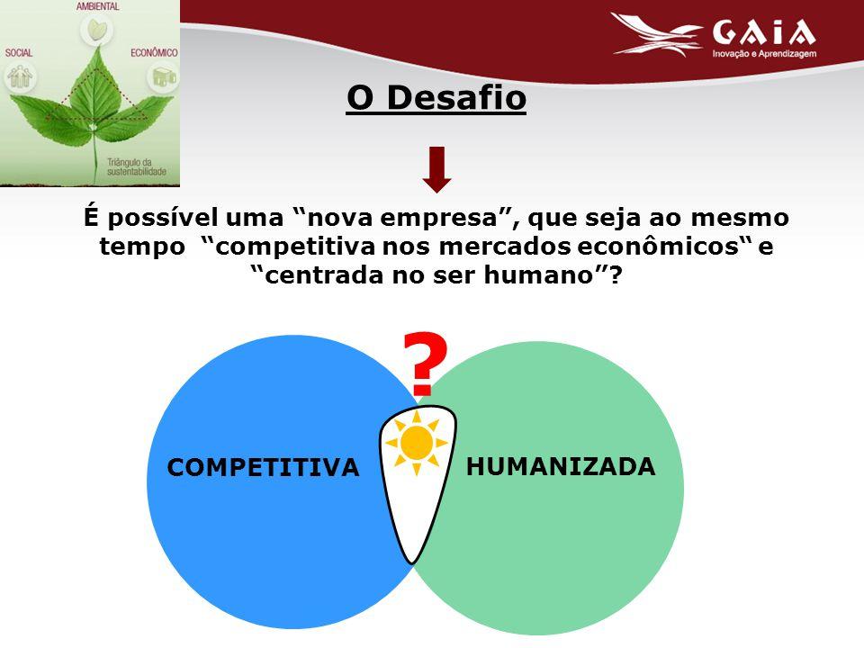 O Desafio É possível uma nova empresa , que seja ao mesmo tempo competitiva nos mercados econômicos e centrada no ser humano .