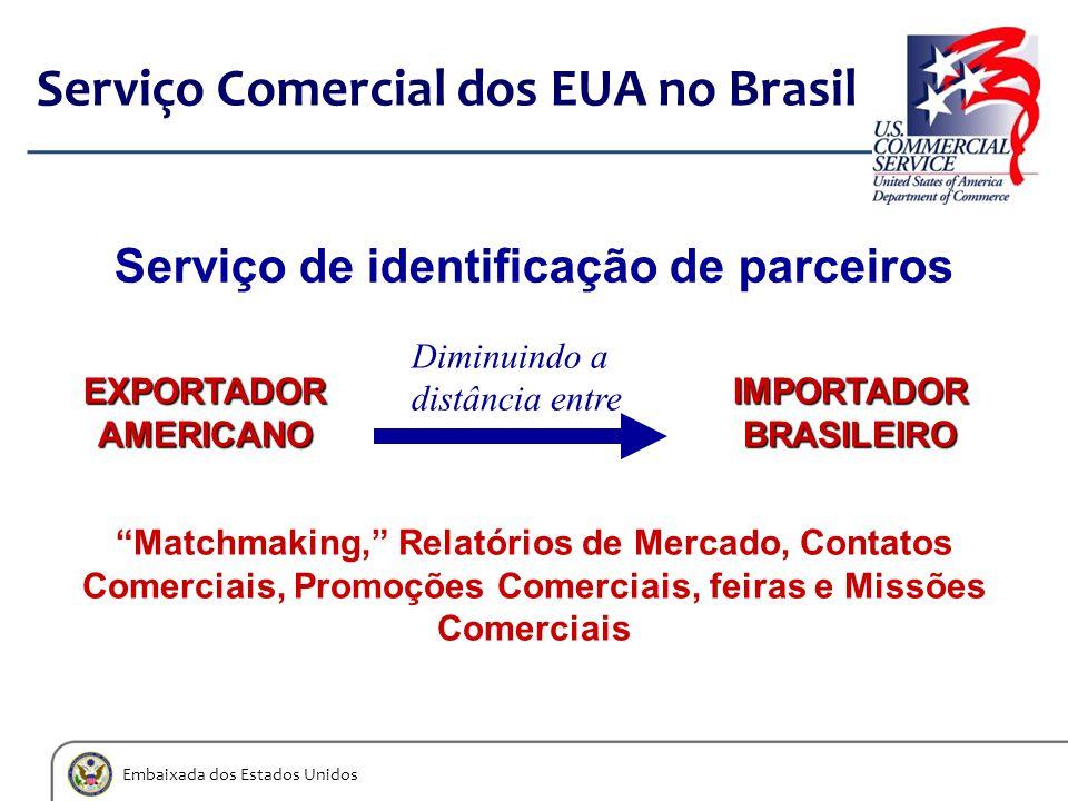 """Embaixada dos Estados Unidos Serviço Comercial dos EUA no Brasil EXPORTADORAMERICANO IMPORTADOR BRASILEIRO Serviço de identificação de parceiros """"Matc"""