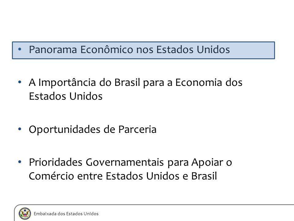 Embaixada dos Estados Unidos Panorama Econômico nos Estados Unidos A Importância do Brasil para a Economia dos Estados Unidos Oportunidades de Parceri