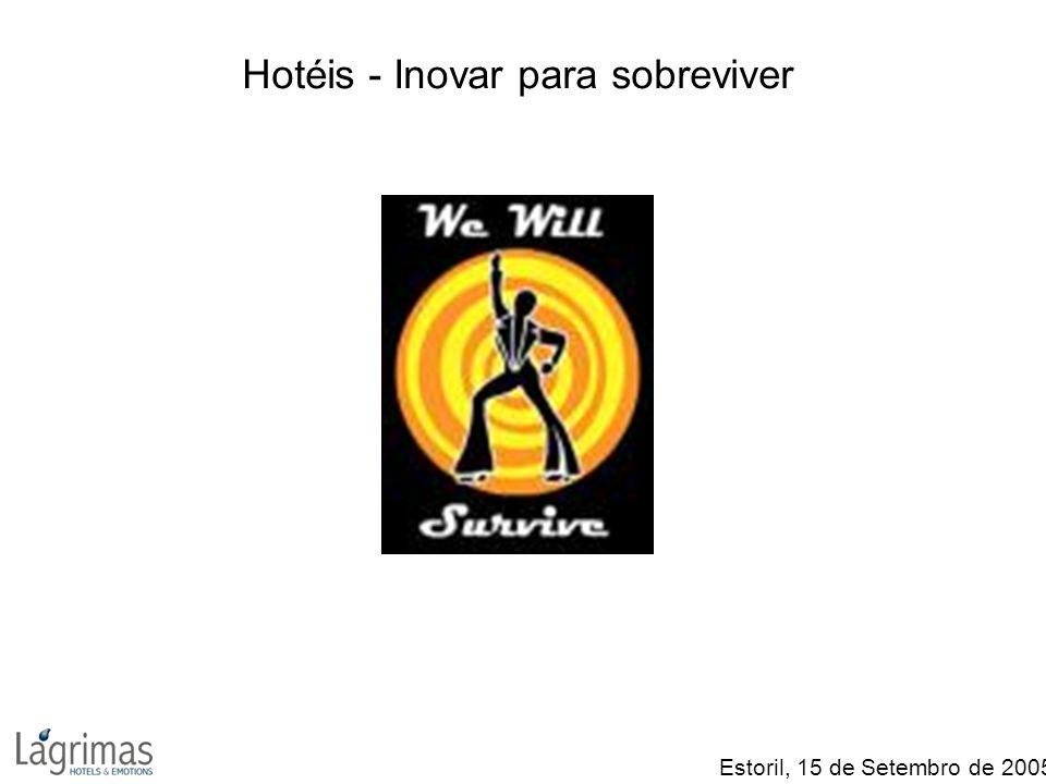 Hotéis - Inovar para sobreviver Estoril, 15 de Setembro de 2005