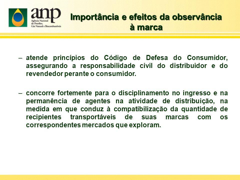 Importância e efeitos da observância à marca –atende princípios do Código de Defesa do Consumidor, assegurando a responsabilidade civil do distribuido