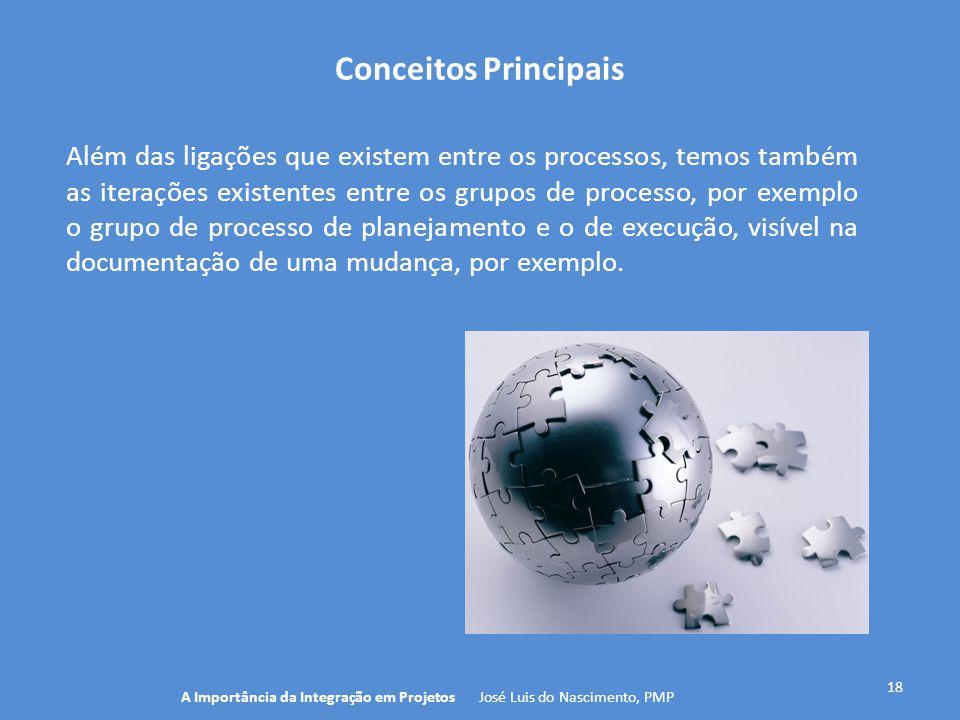 Conceitos Principais 18 Além das ligações que existem entre os processos, temos também as iterações existentes entre os grupos de processo, por exempl